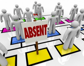 Absent Person on Organizational Chart – Lateness or Tardiness